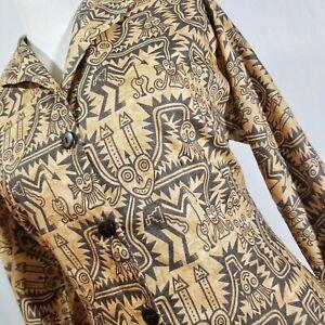 Details about Peruvian Connection Tribal Print Dress Sz 8 Pima Cotton  African Patterns