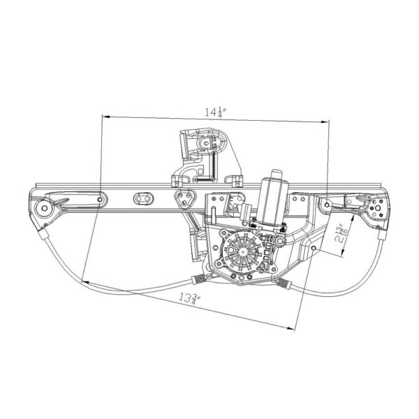 Power Window Motor And Regulator Assembly Rear Right Fits