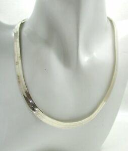Vintage-Very-Nice-Silver-Snake-Link-Necklace
