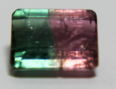 Natural Bicolor, Watermelon Tourmaline, 1.15ct,6x5mm Turmalin, Brazil,التورمالين