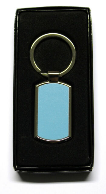 CURVED RECTANGLE SHAPE METAL KEYRING WITH SUBLIMATION INSERT FOR HEAT PRESS A88