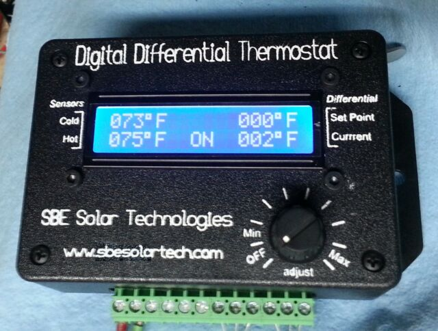 SBE Solar Tech Digital Differential Thermostat solar heating hot water