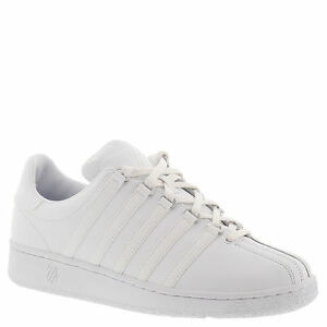 K Swiss Classic VN 03343101 White Leather Casual Tennis Shoes Medium (d M)  Men Whites 7.5 aa039598f4b