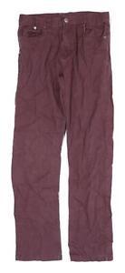 Denim Co Mens Burgundy Denim Jeans Size W34/L31