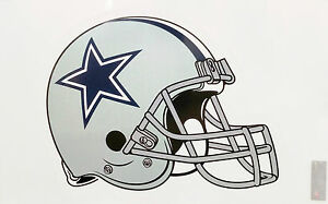 Dallas Cowboys Helmet Reusable Jumbo Cling Auto Window