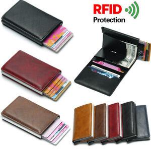Mens-Wallet-Quality-Leather-RFID-Blocking-SAFE-Slim-Card-Protection-Holder-Purse