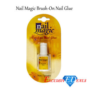 Nail-Magic-Professional-Brush-On-Nail-Glue-False-Acrylic-Tips-Strong-Repairs-7g