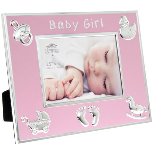 New Baby Boy Blue or Girl Pink Photo Frame Newborn New Parents Gift Idea Boxed