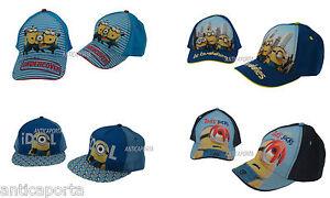 Caps-Original-Minions-4-types-Bobsleigh-Stuart-Kevin-peaked-Cappelli-2-measures
