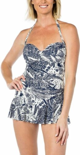 Rose Marie Reid Ladies/' Sweetheart Halter Swimdress W//Tummy Control