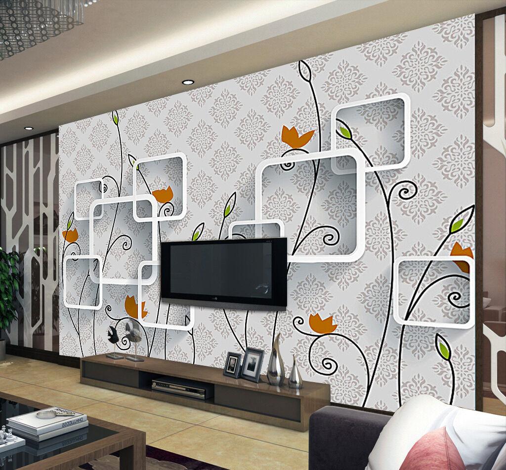 3D Fiore Ramo 61 Parete Murale Foto Carta da parati immagine sfondo muro stampa