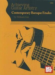 DéVoué La Réalisation De Guitare Art Contemporain Baroque Etudes Sheet Music Book-afficher Le Titre D'origine PréVenir Le Grisonnement Des Cheveux Et Aider à Conserver Le Teint