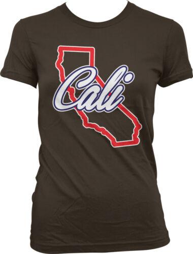 California Pride Hometown CA Juniors T-shirt Cali State Outline