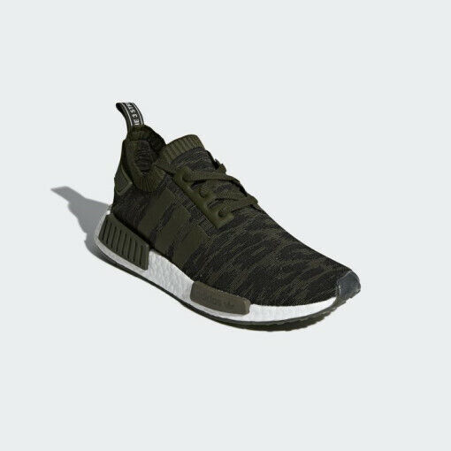 Adidas Originals NMD R1 PK Primeknit - Night Cargo/ Green (CQ2445), Men's Shoes