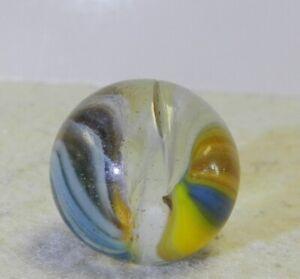 #11815m Unique Vintage Akro Agate Sparkler Marble .80 Inches