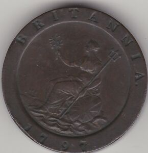 1797 Roue Twopence-george Iii British Blanchi Copper Coin 2d S&i-afficher Le Titre D'origine U9xugmue-07234850-861659729