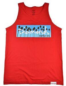 648d3169daaa3 Diamond Supply Co. OG PALMS TANK Red Blue White Palm Trees Men s ...