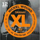 12-Pack D'Addario EXL110-12P Nickel Wound Light Electric Guitar String