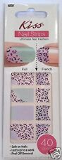 Kiss Nail Stick on Applique Strips French or Full 40 Strips # DMT 195 Leopard
