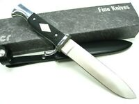 Linder Black Handle Drop Forged Pathfinder Full Tang Knife + Sheath Ld193214