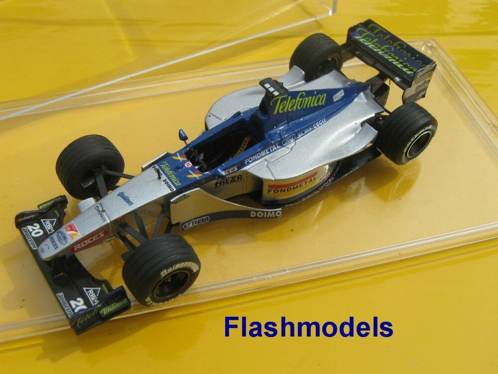 1:43 Minardi m01 1999 L. Badoer European GP Tameo handbuilt MODELCAR in vetrina