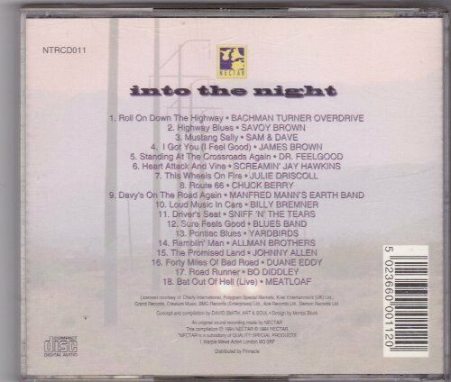 Into the Night (1994) [CD] Bachmann Turner Overdrive, Savoy Brown, Sam & Dave...