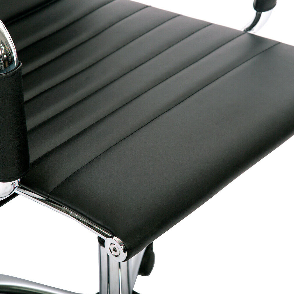 s l1600 - Silla de Oficina de Diseño Ergonomica Reclinable Piel Cuero Sintetico Sillon