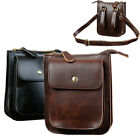 New Unisex Leather Vintage Messenger Shoulder Fanny Pack Waist Chest Bag Pouch
