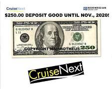 Norwegian Cruise Line NCL CruiseNext $250 Deposit Cruise Certificate 'til 11/20!