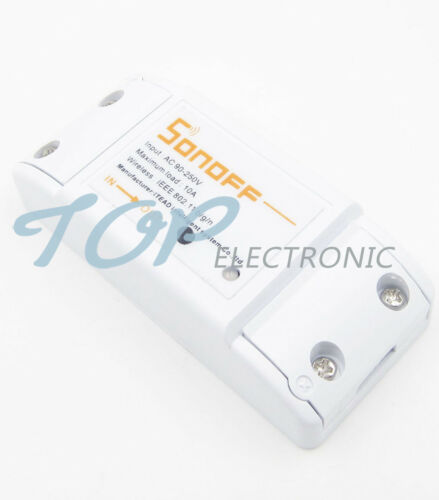 DIY Wi-Fi Wireless Switch For Smart DIY WiWith ABS Shell Mobile APP Timer Socket