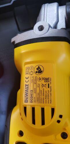 DeWalt DCG412N 18v XR sans Fil 125mm Meuleuse Angle Unité Nue DCG412N-XJ