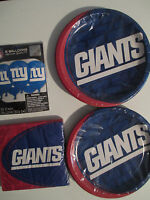 York Giants Nfl Football Party Supply Pack Kit Plates, Napkins & Balloons