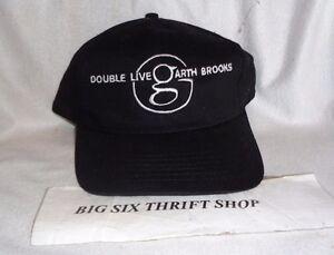 Image is loading Garth-Brooks -memorabilia-Double-Live-Concert-Black-Baseball- e84272ea8cbc