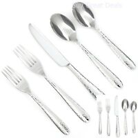 Fork Knife Spoon Flatware Set Service 30 Pc Stainless Steel, Mirror Finish