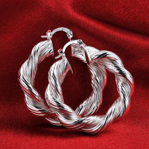 Fashion Silver Jewelry Wrest Hollow Flower Women Hoop Earrings FE593+BOX