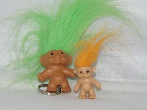 GREEN-Troll-Keyring-Pencil-Top-GREAT-GIFT-Free-mini-troll-include