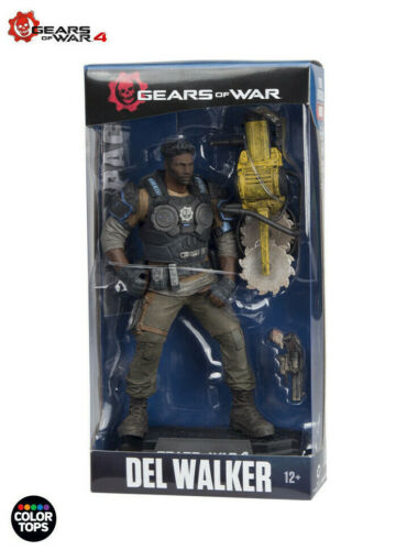 "McFarlane GEARS OF WAR 4 #NEW Del Walker 7/"" Action Figure"