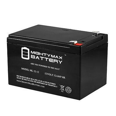 Mighty Max 12V 12Ah F2 SEALED LEAD ACID DEEP-CYCLE RECHARGEABLE BATTERY