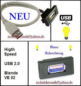 USB-Einbaubuchse-BELEUCHTUNG-1-5M-passend-fuer-T4-T5-Multivan-Caravan-Touran-Golf