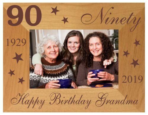 90th BIRTHDAY GIFT PERSONALISED PHOTO FRAME MUM DAD GRANDPA GRANDMA AUNT UNCLE