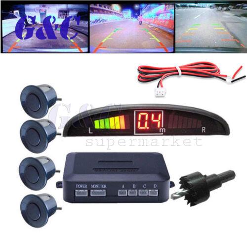 4//8Parking Sensors LED Display Car Backup Reverse Radar System Warning Alarm Kit
