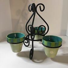 Attrayant Item 3 Southern Living At Home Gail Pittman Hand Painted Provence Pots And  Iron Stand  Southern Living At Home Gail Pittman Hand Painted Provence Pots  And ...