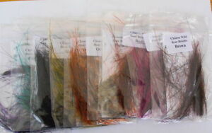 Wild Boar Bristles - Chinese - various colours available or mixed pack