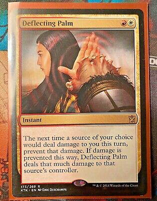 4 PLAYED Deflecting Palm Gold Khans of Tarkir Mtg Magic Rare 4x x4