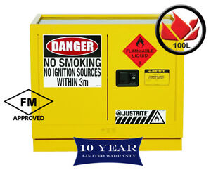 100L-Dangerous-Goods-Storage-Flammable-Liquid-Safety-Cabinet-10yr-Wty-FireResis