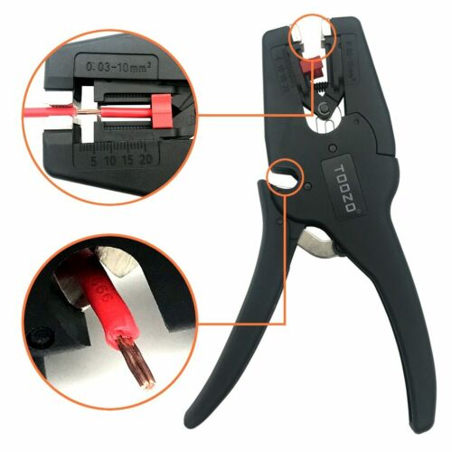 Wire Stripper Cable Cutter Pliers Stripping Range 0.03-10mm2 Adjustment