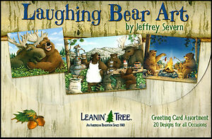 Leanin-Tree-Greeting-Cards-20-Box-Set-LAUGHING-BEAR-ART