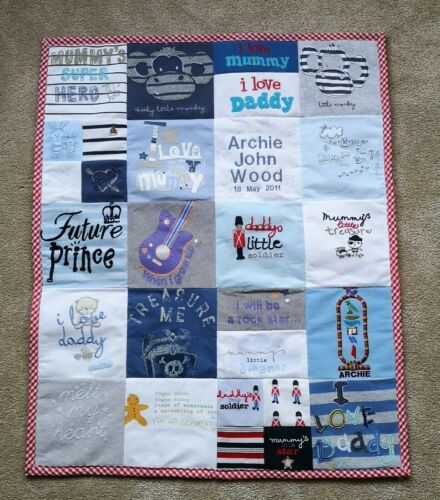 Size-small Memory blanket from baby clothes