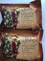 2 Pack Asquith & Somerset Festive Vintage Pear Holiday Triple Milled Bar Soap