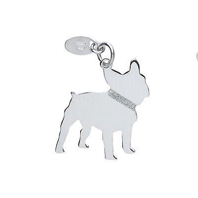 """Silver French Bulldog Pendant Solid Silver 925 Stamp Pet Jewellery 14-30"""" Chain Comfortabel En Gemakkelijk Te Dragen"""
